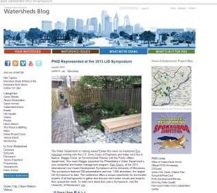 Urban Rain Garden Featured on Philadelphia Water Department's Website