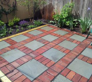 Brick and Concrete Create Visual Interest